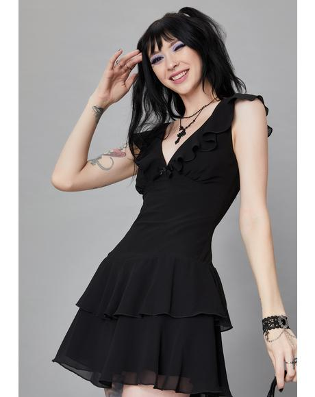 Graveyard Stroll Babydoll Dress
