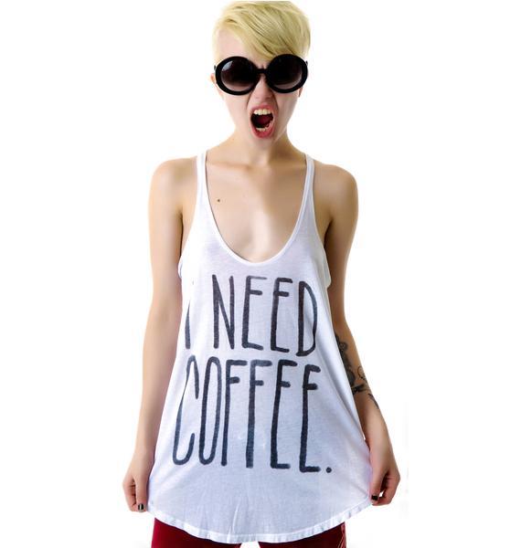 Junk Food Clothing I Need Coffee Tank