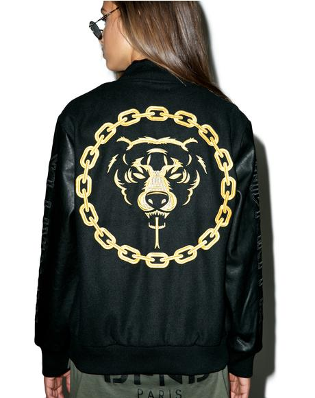 Mishka 2.0 Death Adder Chain Varsity Jacket