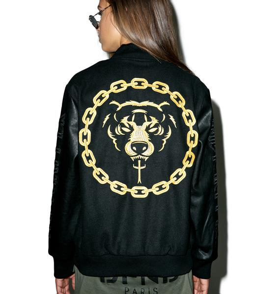 Long Clothing Mishka 2.0 Death Adder Chain Varsity Jacket