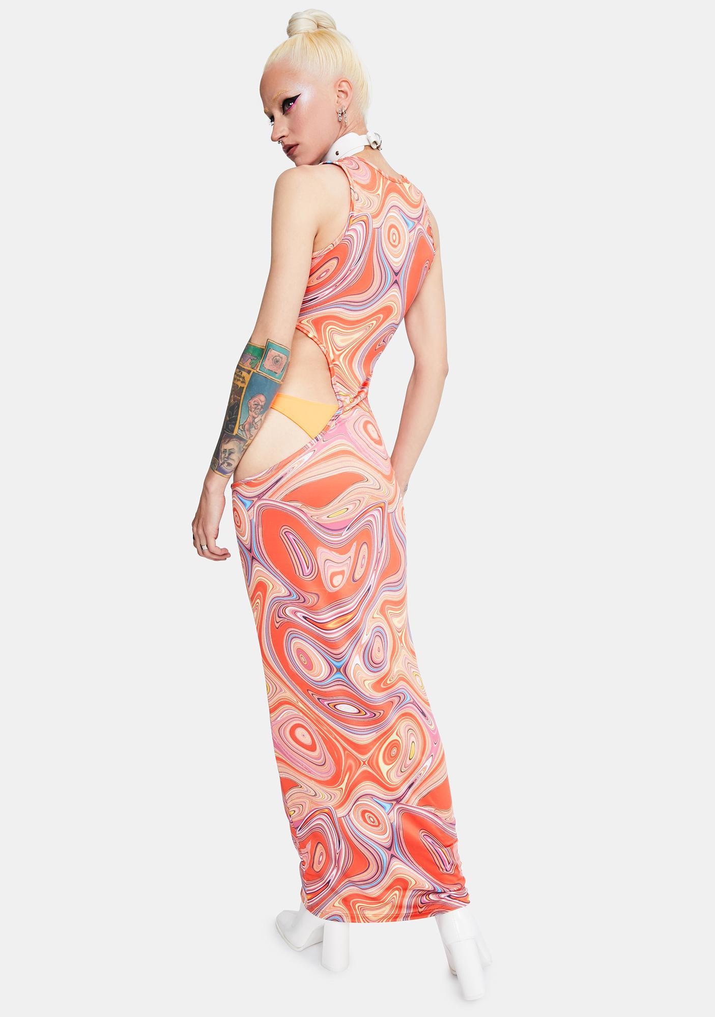 Sound The Sirens Mesh Maxi Dress