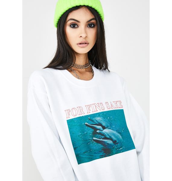 NEW GIRL ORDER For Fins Sake Graphic Sweatshirt