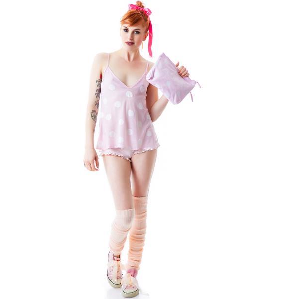 Wildfox Couture Polka Dots Cami Clutch