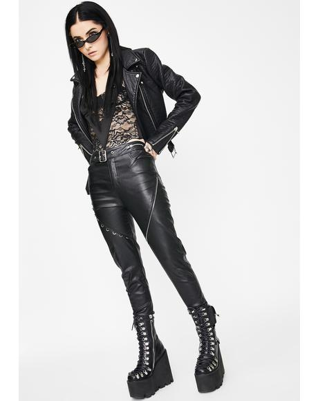 Heavy Industrial Vegan Leather Pants