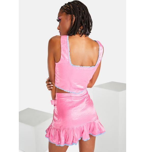 Elsie & Fred Pink Billie Mini Skirt