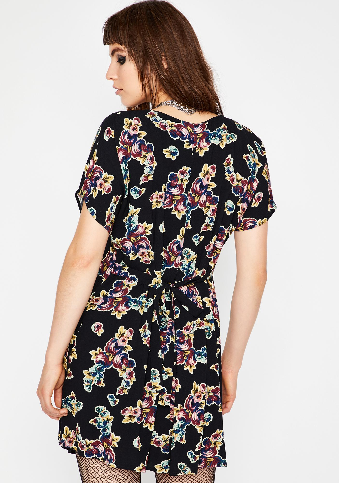 Current Mood Fall To Pieces Babydoll Dress
