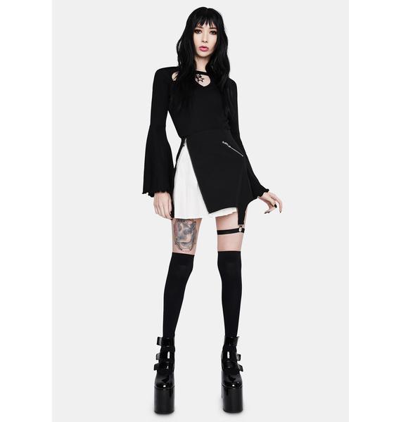 Dark In Love Punk Inside Out Irregular Short Skirt