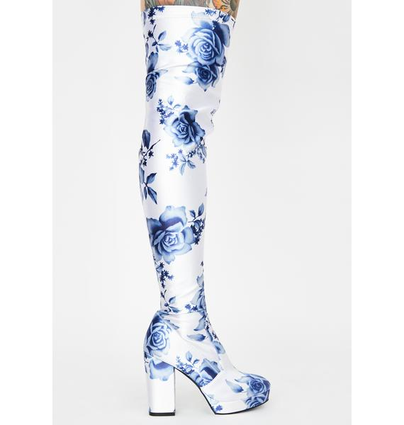 Current Mood Werk Of Art Thigh High Boots