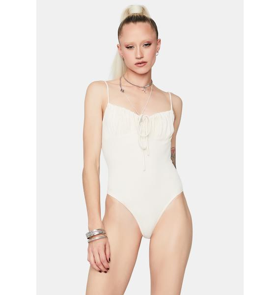 Ring The Bell Ruched Cami Bodysuit