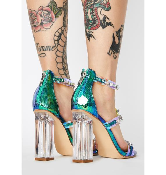 Merry Me Jeweled Heels