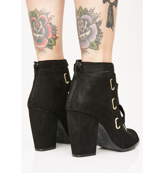 Out Crowd Peep Toe Booties