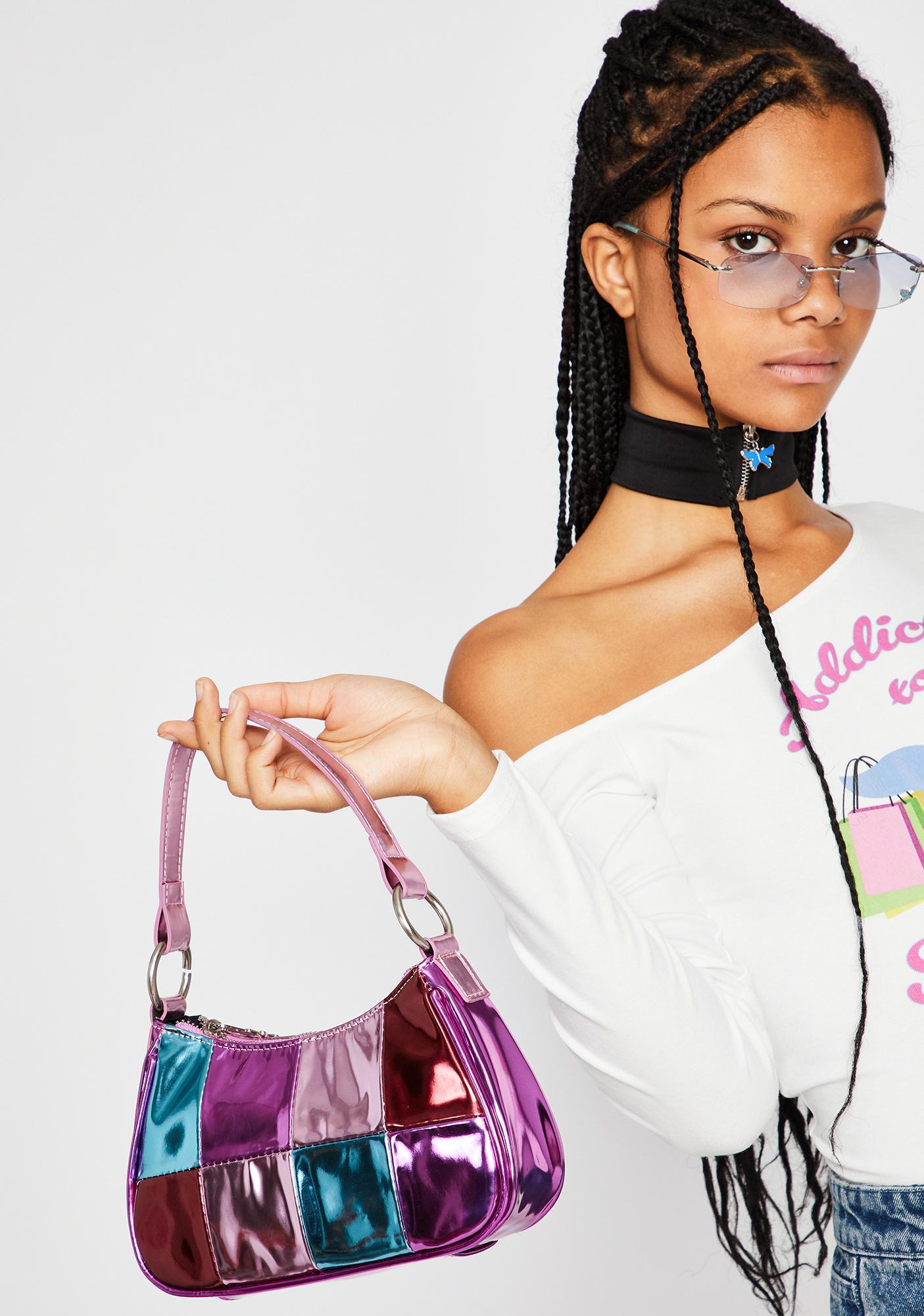 dELiA*s by Dolls Kill Shop Til I Drop Metallic Handbag