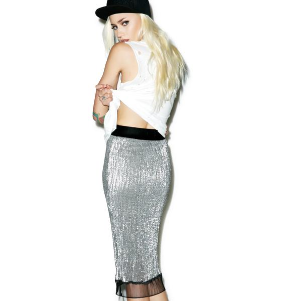 Harlet Sequin Pencil Skirt