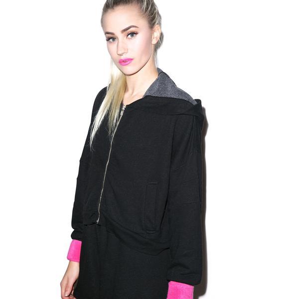 Wildfox Couture Balance Draped Hoodie