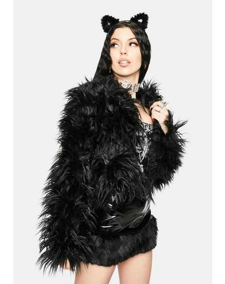 Wicked Somethin' Savage Faux Fur Coat