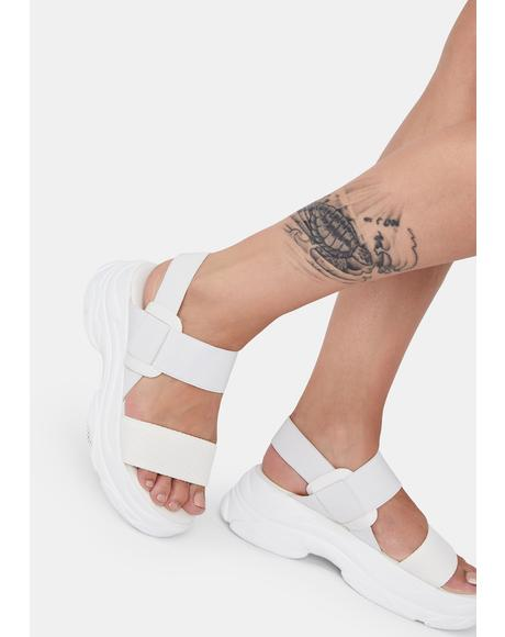 Arctic Soft Wave Platform Sandals