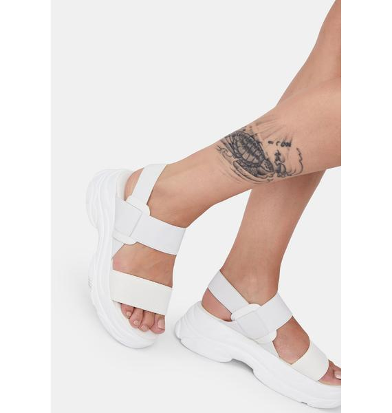 Arctic Soft Wave Platform Sandals