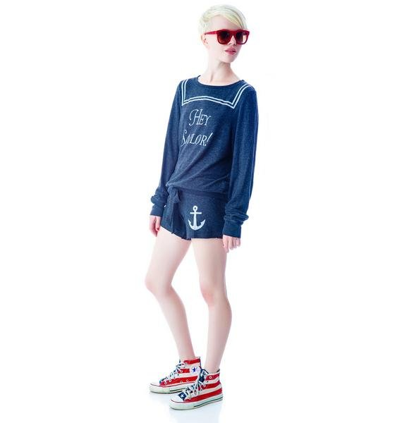 Wildfox Couture Hey Sailor Baggy Beach Jumper