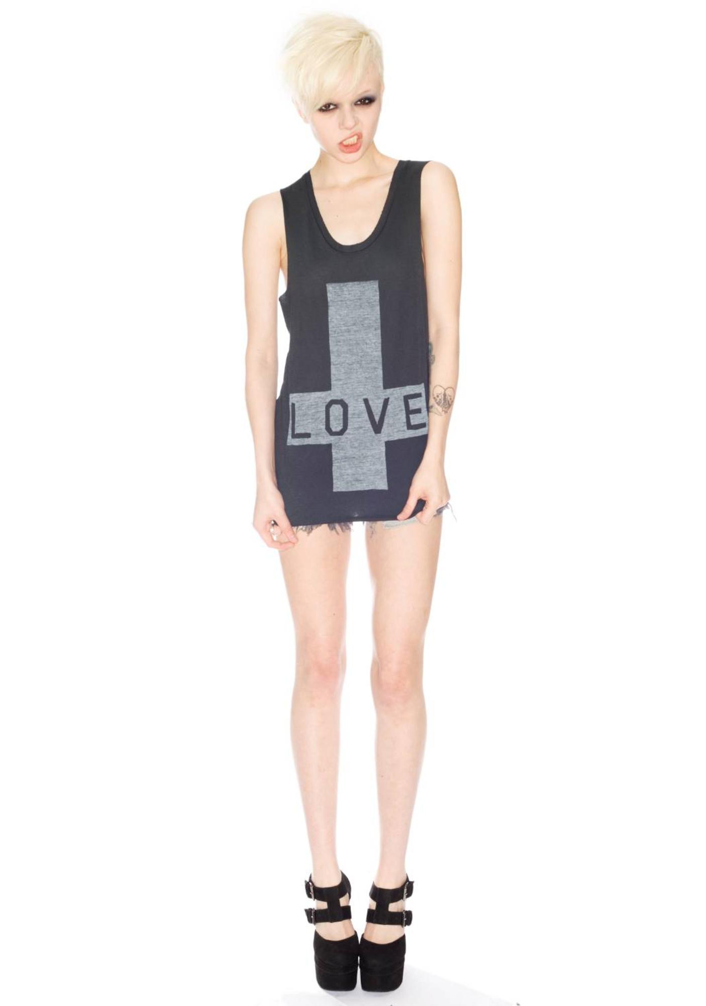 Zoe Karssen Love Cross Sleeveless Tee
