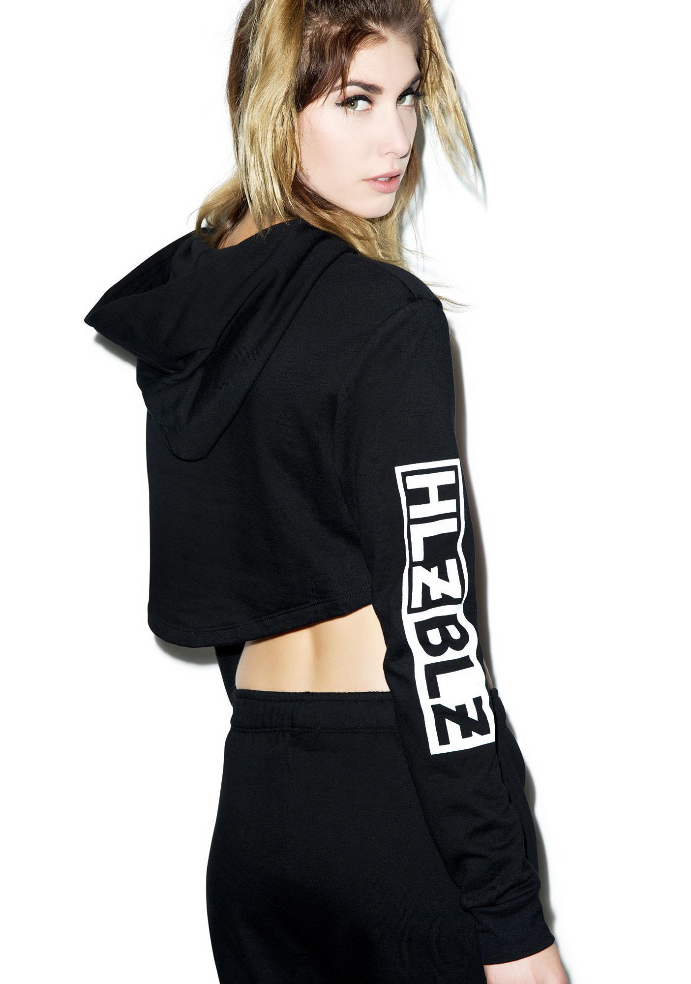 HLZBLZ The Hood Cropped Hoodie
