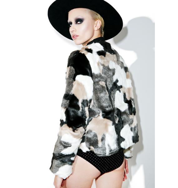 Anti Matter Faux Fur Jacket