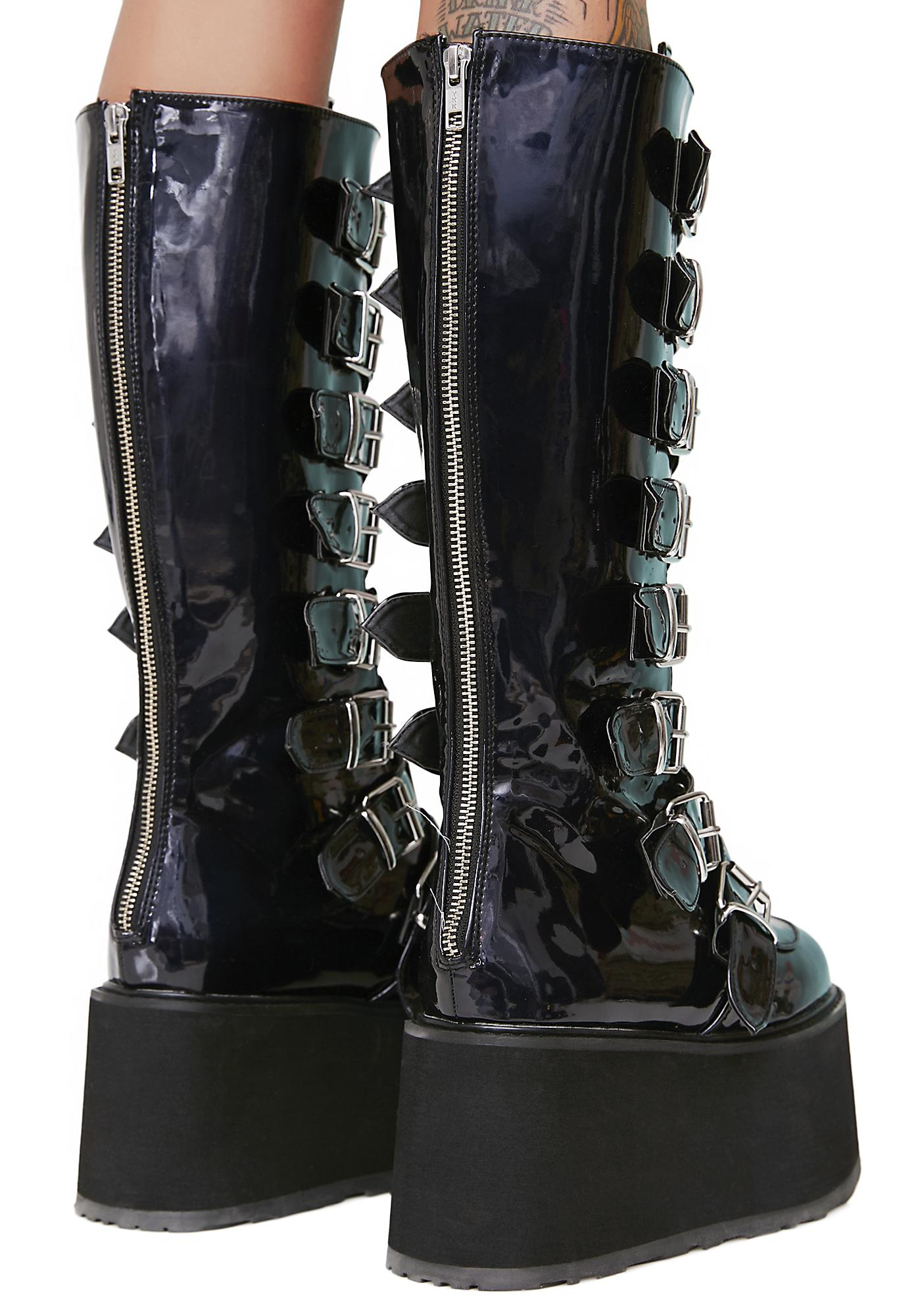 Demonia Hologram Morpheus Platform Boots