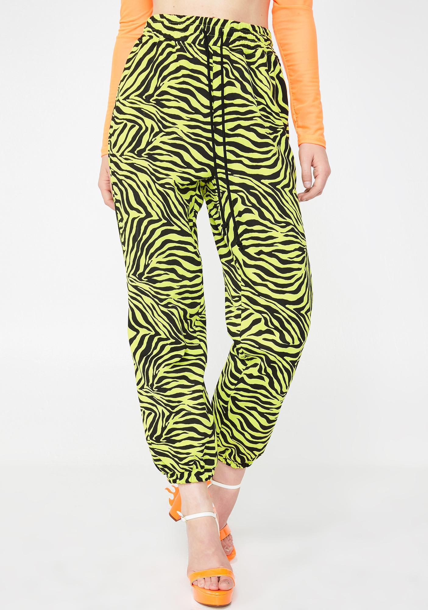 Radioactive Jungle Zebra Pants