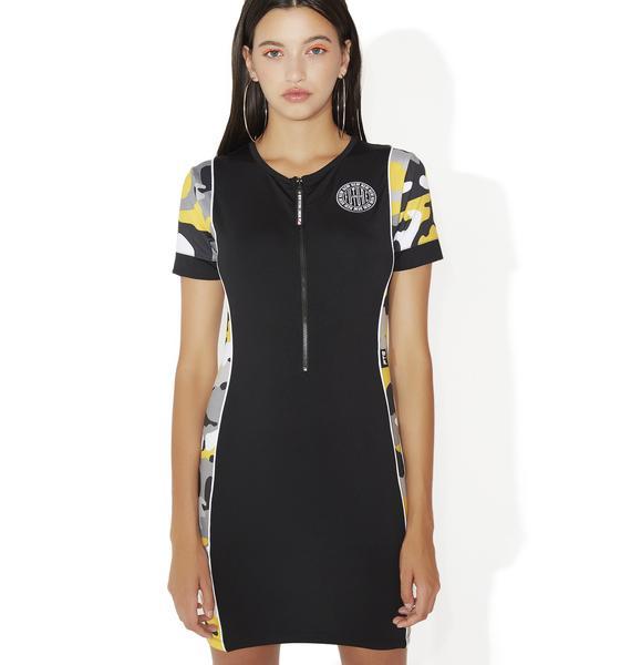 NEW FTR LDN Camo Mini Dress