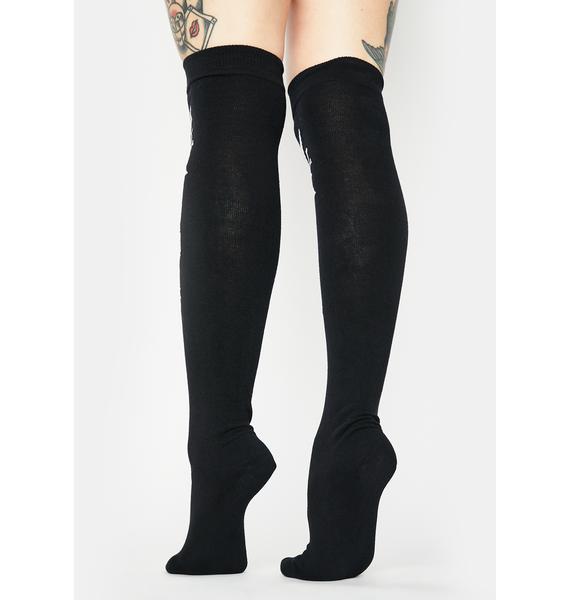 Killstar Sinstress Long Knee High Socks