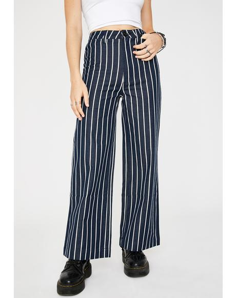 Old Mate Pinstripe Wide Leg Pants