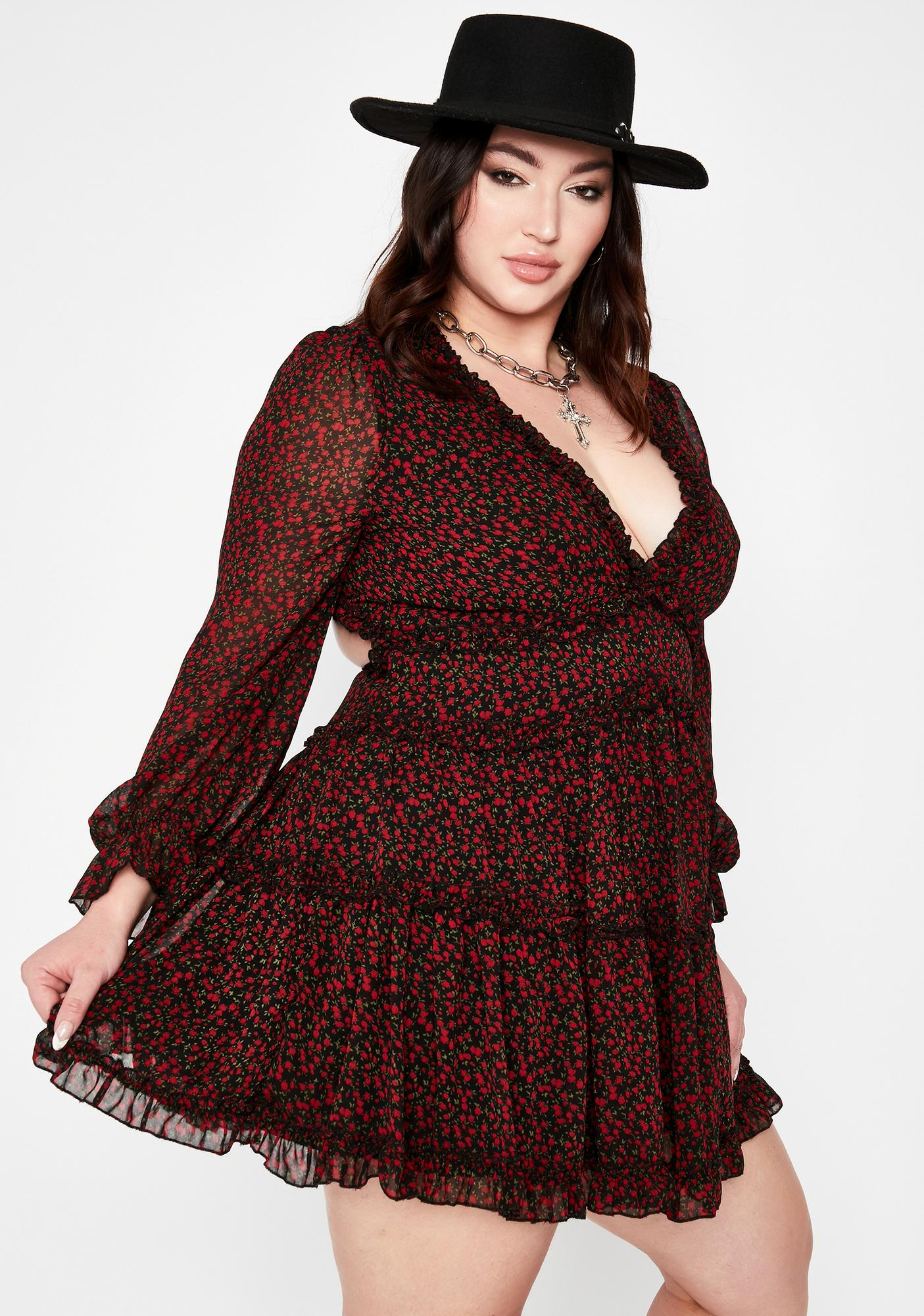 So Rosey Posies Floral Dress