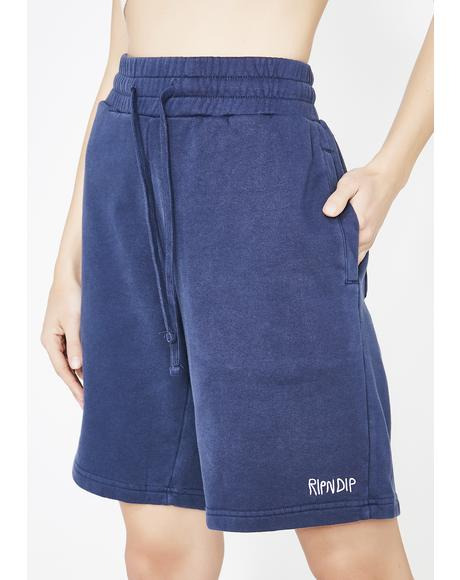 Royal Peek A Nermal Sweat Shorts