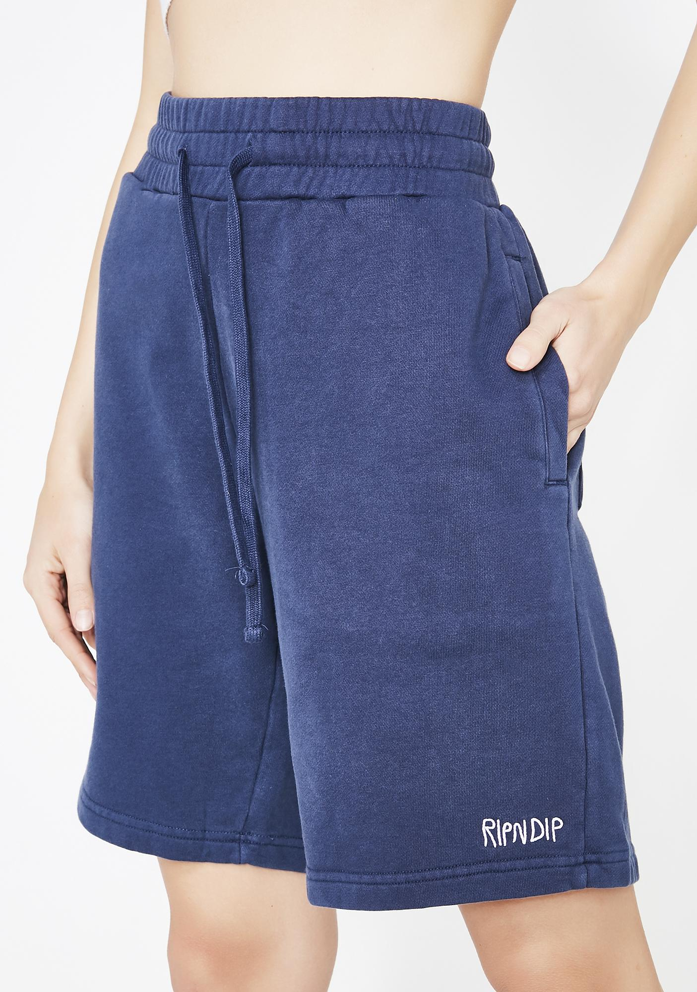 RIPNDIP Royal Peek A Nermal Sweat Shorts