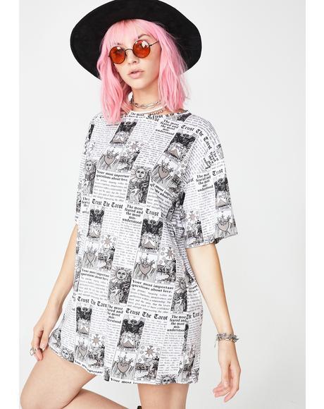 Tarot Print Sunny Kiss Dress