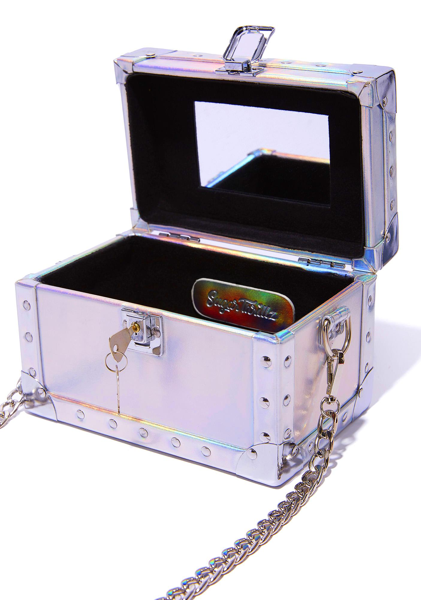 Sugar Thrillz Glam Hologram Mini Trunk Bag