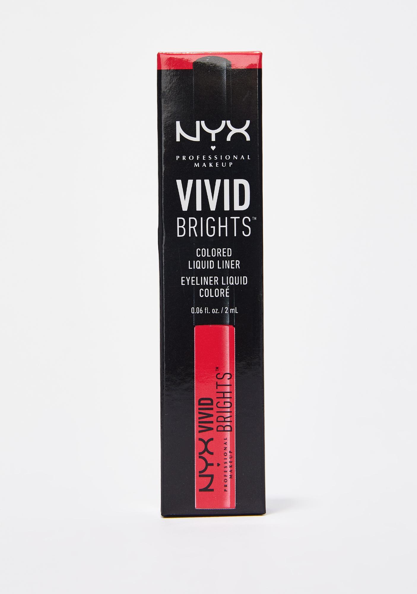 NYX Vivid Fire Vivid Brights Eyeliner