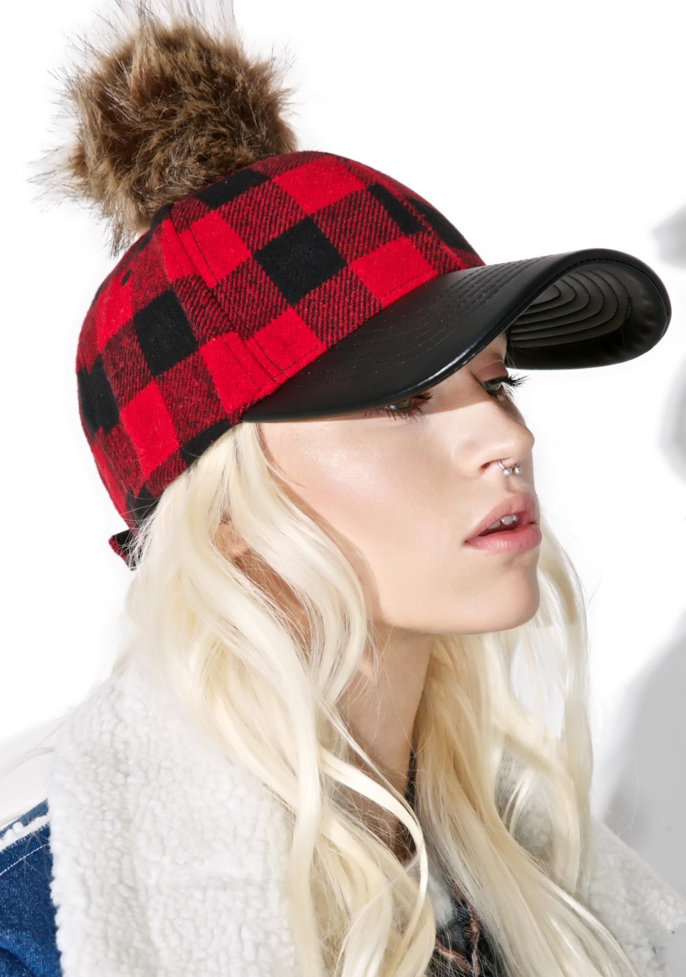 Plaid Pom Hat