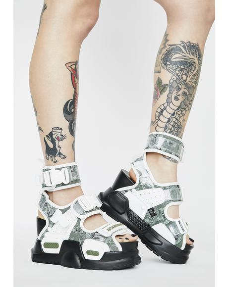 Mulberry Platform Sandals