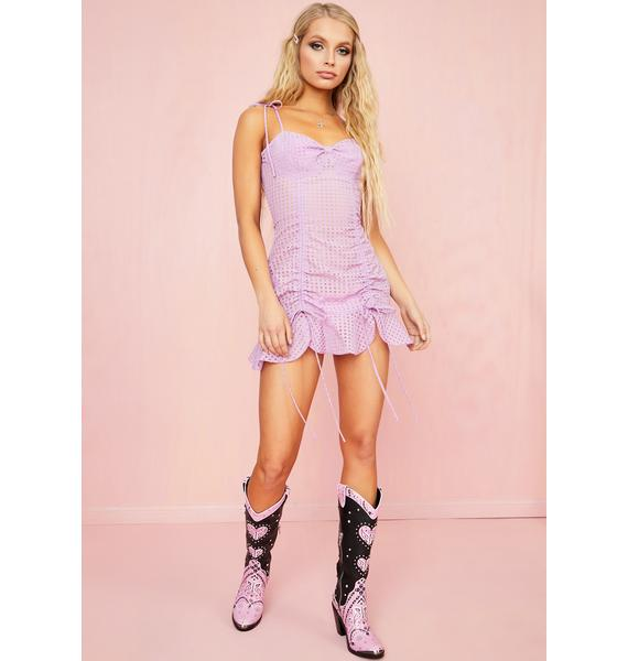 Sugar Thrillz Made U Blush Gingham Dress