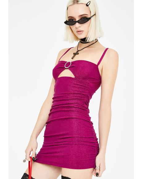 Fuchsia Vada Bodycon Dress