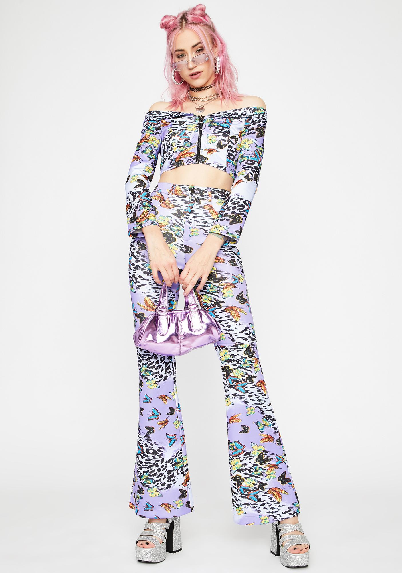 Lilac Wild Fusion Crop Top