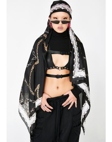 Lavish Chains Satin Scarf