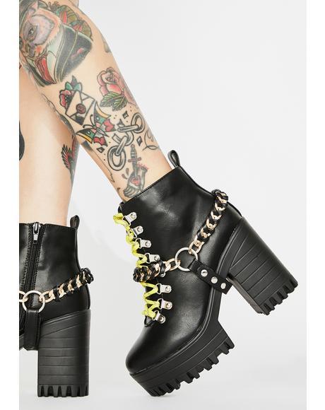 Black Bribe Platform Boots