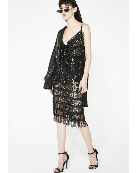 Bad N' Bougie Fringe Dress