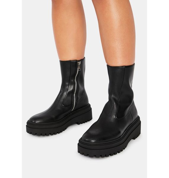 Steve Madden Black Dallas Boots
