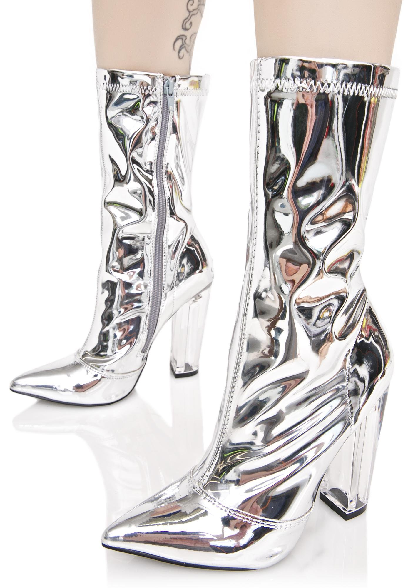 Space Age Metallic Boots