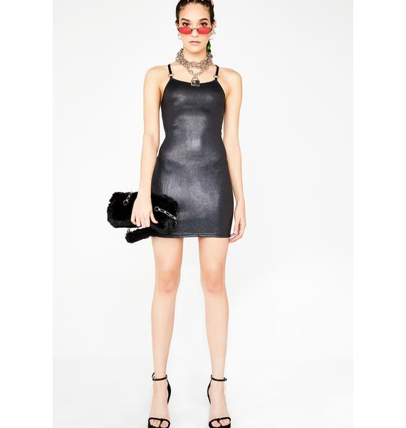 Momokrom Holographic PU Dress
