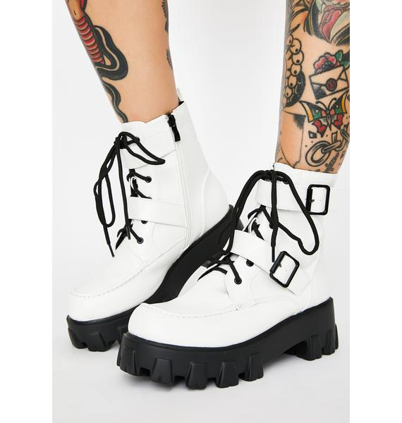 Iced Illegal Loner Combat Boots