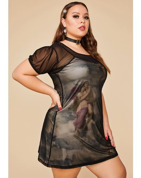 Her Divine Creation Mesh Dress