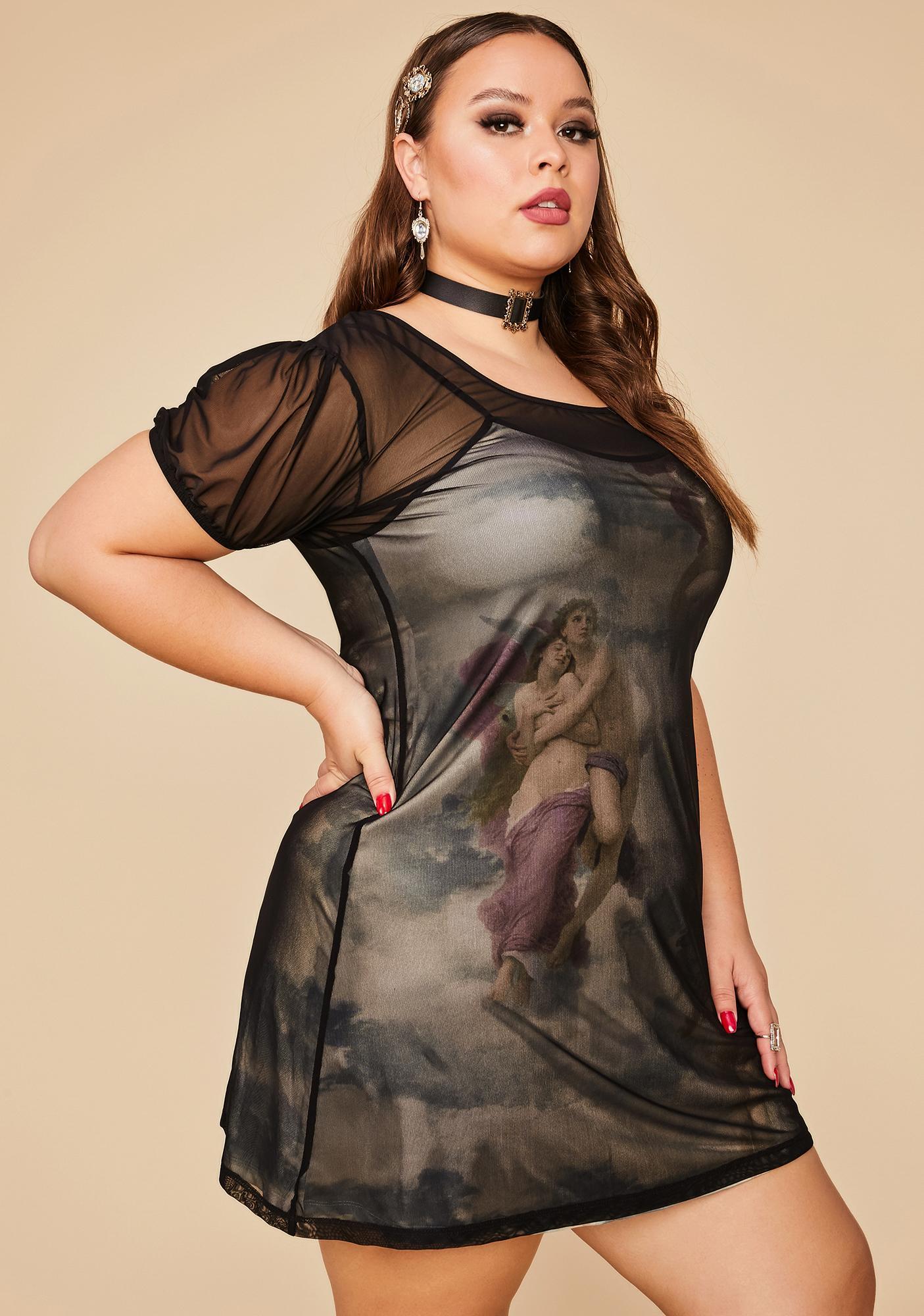 Current Mood Her Divine Creation Mesh Dress
